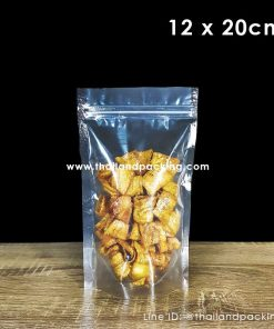 Clear Poly Ziplock Bag 12x20cm (Stand up)