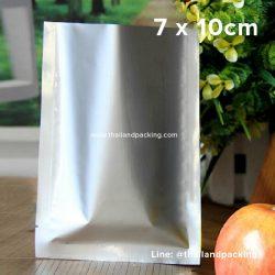 ซองซีล 3 ด้าน เนื้อพลาสติกเงา สีเงิน 7x10cm