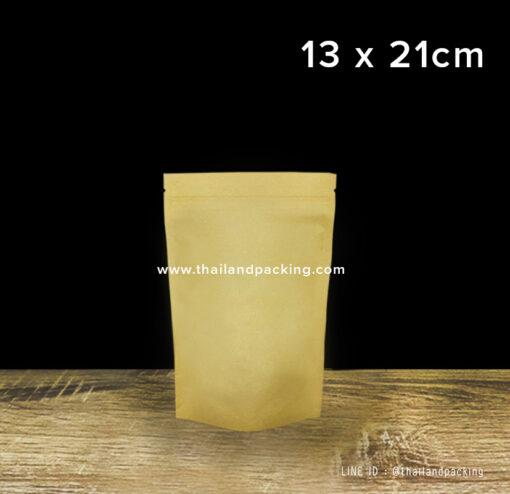 ถุงคราฟท์น้ำตาล ทึบ ตั้งได้ 13x21cm