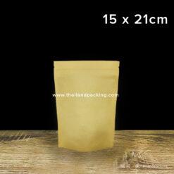 ถุงคราฟท์น้ำตาล ทึบ ตั้งได้ 15x21cm