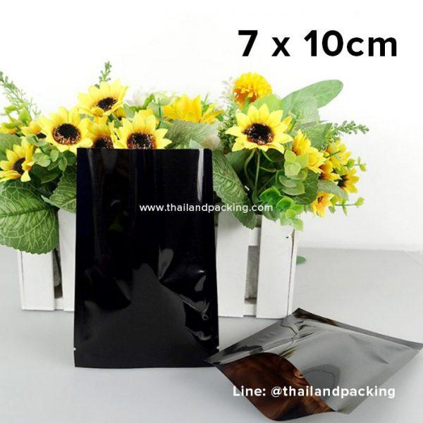 ซองซีล 3 ด้าน เนื้อพลาสติกเงา สีดำ 7 x 10cm