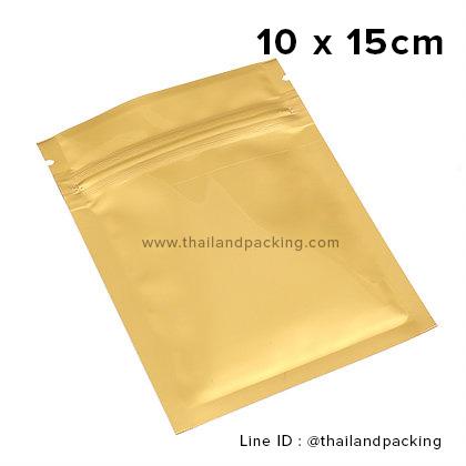 10 x 15cm ถุงซิปก้นแบน ตั้งไม่ได้ ขาวด้าน (Matte Color)