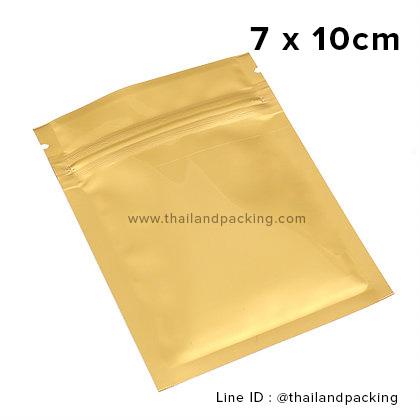7 x 10cm ถุงซิปก้นแบน ตั้งไม่ได้ ขาวด้าน (Matte Color)