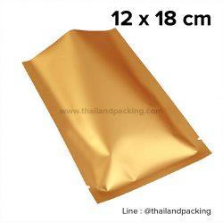 ซองซีล 3 ด้าน เนื้อพลาสติกเงา สีทอง 12x18cm