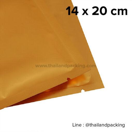 ซองซีล 3 ด้าน เนื้อพลาสติกเงา สีทอง 14x20cm