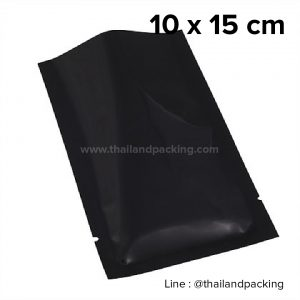 ซองซีล 3 ด้าน เนื้อพลาสติกเงา สีดำ 10x15cm