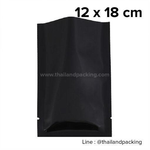 ซองซีล 3 ด้าน เนื้อพลาสติกเงา สีดำ 12x18cm
