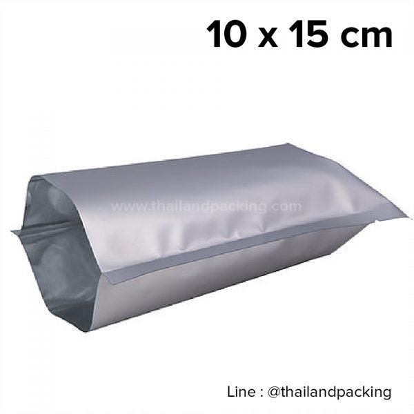 ซองซีล 3 ด้าน เนื้อพลาสติกเงา สีเงิน 10x15cm
