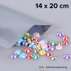ซองซีล 3 ด้าน เนื้อพลาสติกเงา สีเงิน 14x20cm