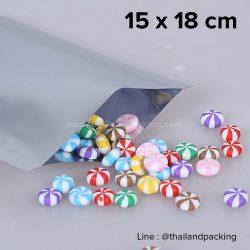 ซองซีล 3 ด้าน เนื้อพลาสติกเงา สีเงิน 15x18cm