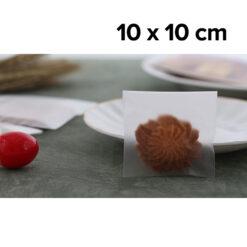 ถุงฝากาว OPP เนื้อขุ่น Matte 10 x 10 cm. OPP-MA-1010-NS