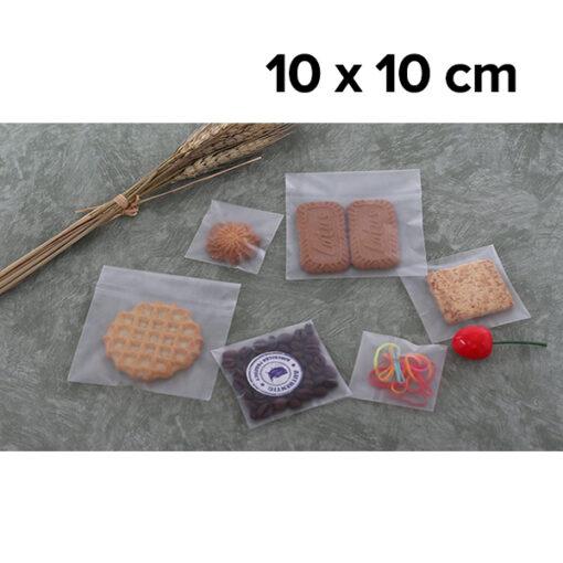 ถุงฝากาว OPP เนื้อขุ่น Matte 10 x 10 cm