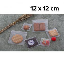 ถุงฝากาว OPP เนื้อขุ่น Matte 12 x 12 cm