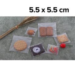 ถุงฝากาว OPP เนื้อขุ่น Matte 5.5 x 5.5 cm