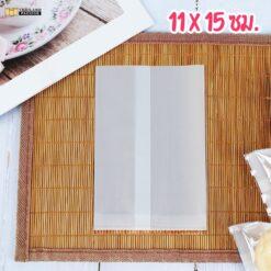 ถุงคุกกี้ ถุงใส่ขนม ถุงใส่คุกกี้ ซองซีล ซองซีลกลาง หน้าใส หลังขาว สกรีนถุง งานสกรีน 11x15