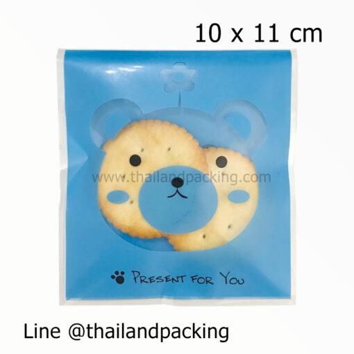 ถุงคุกกี้ ฝากาว ลายการ์ตูน 10x11cm COOKPAT3-B