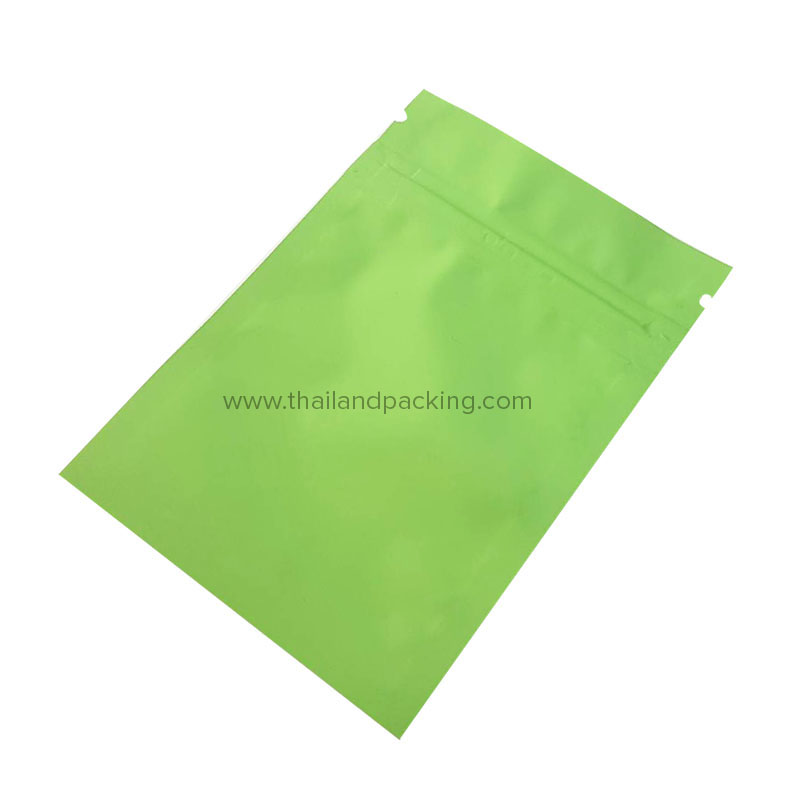 Double Sided Green Ziplock Bag (Not Stand)