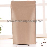 Brown Coffee Bag Ziplock with valve (Stand)