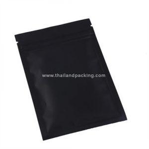 ถุงซิปก้นแบน ตั้งไม่ได้ สีดำ