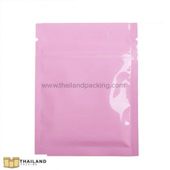Double Sided Pink Ziplock Bag (Not Stand)