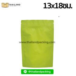 ถุงฟอยด์ทึบสีเขียว-เนื้อมันเงา-ตั้งได้-13x18ซม