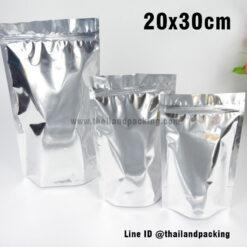 ถุงฟอยด์ทึบ ตั้งได้ ขนาด (Aluminized) 20 x 30+5 ซม.