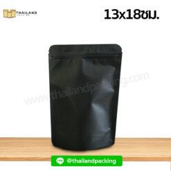 ถุงซิปล็อค สีดำ ตั้งได้ 13x18ซม.