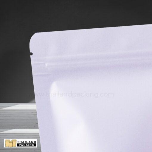 ถุงซิปล็อค ถุงกระดาษคราฟท์ สีขาว หน้าต่างขุ่น ตั้งได้