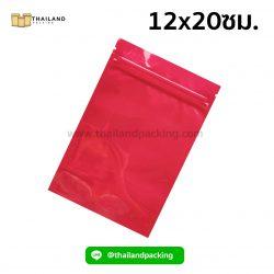 ถุงซิปล็อค-อลูมิไนซ์-เงา-ตั้งไม่ได้-สีแดง-12x20