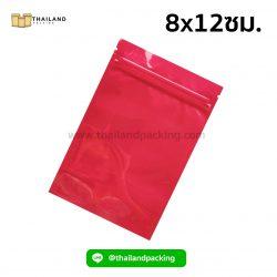 ถุงซิปล็อค-อลูมิไนซ์-เงา-ตั้งไม่ได้-สีแดง-8x12