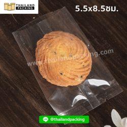 ถุงคุกกี้-เนื้อใส-ซีลกลาง-55x85