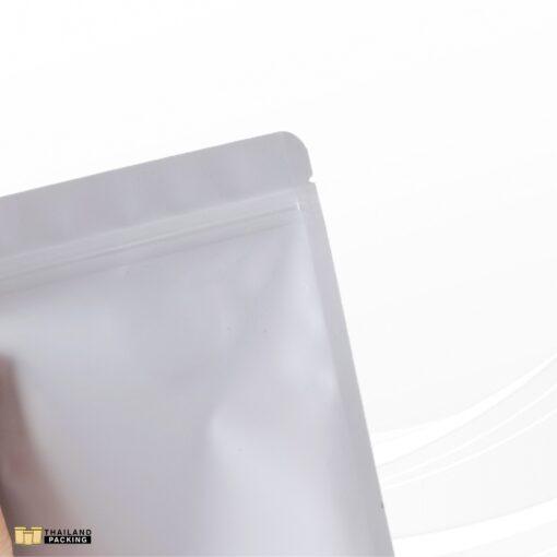 ถุงซิปล็อค ถุงฟอยด์ เนื้อด้าน สีขาว ตั้งได้ สกรีนถุง งานสกรีน สกรีน