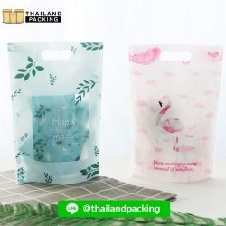 ถุงซิปล็อค ถุงใส่ขนม มีลาย ตั้งได้ (Leaf / Flamingo)