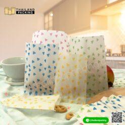 ถุงคุกกี้ ถุงใส่ขนม ถุงใส่คุกกี้ ซองซีล ลายสามเหลี่ยม