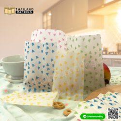 ถุงคุกกี้ ซองซีล ลายสามเหลี่ยม