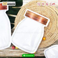 ถุงซิปล็อค ลายขวดโหล ฝาน้ำตาลแดง (เนื้อพลาสติกสีขาว)1216