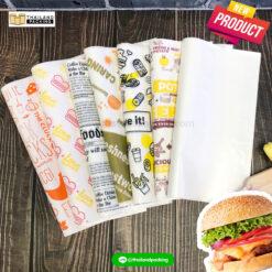 กระดาษห่อเบอร์เกอร์ กระดาษห่อขนม กระดาษพิมพ์ลาย