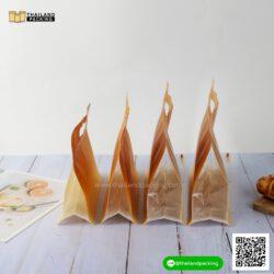 ถุงซิปล็อค ถุงกระดาษ ขยายข้าง สีทอง มีหูหิ้ว ตั้งได้