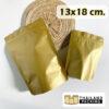 ถุงซิปล็อค ฟอยด์ทึบ สีทอง เนื้อด้าน ตั้งได้