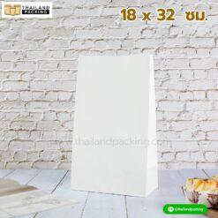 ถุงกระดาษคราฟท์ ถุงเก็บความเย็น สีขาว มีก้น