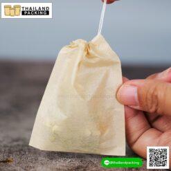 ถุงชา ถุงกรองชา เนื้อเยื่อไม้ธรรมชาติ สีน้ำตาล พร้อมเชือก