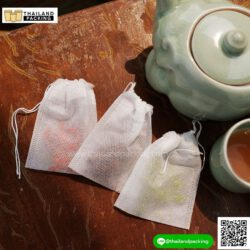 ถุงชา Non-woven พร้อมเชือกรูดรัดปากถุง