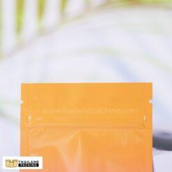 ถุงซิปล็อค ถุงฟอยด์ ทึบ ทูโทน สีส้มชมพู ตั้งไม่ได้
