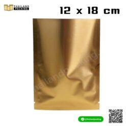 ซองซีล ซองซีล3ด้าน ซองฟอยด์ ซองฟอยล์ สีทองอ่อน 12x18 ซม. สกรีนถุง งานสกรีน