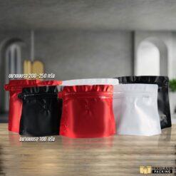 ถุงกาแฟ ถุงใส่เมล็ดกาแฟ ถุงใส่กาแฟ ถุงฟอยด์ ถุงใส่ชา Diamond bag สกรีนถุง งานสกรีน
